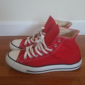 Men's Converse Chuck Taylor red high top sneakers